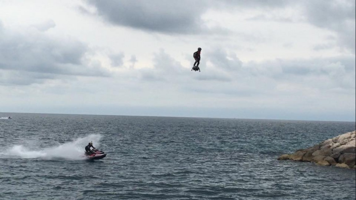 Exercice de fact-checking à propos de la polémique du Flyboard Air de Franky Zapata