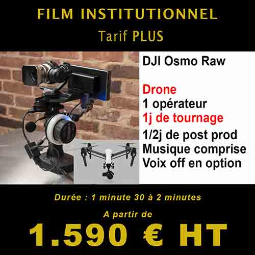 Film institutionnel martinique - Pack plus